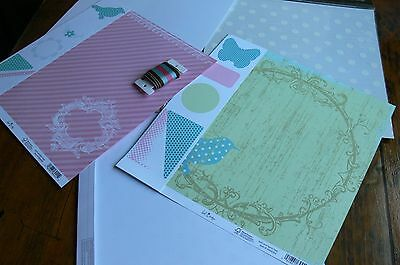 Discount CONTRAST PrettyCollection Kit12x12 Ribbon 10DieCuts-5 Pages Heidi Swapp