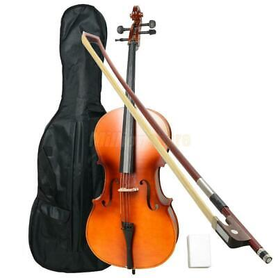 New 4/4 Professional Matt Wood Color Cello +Bag+Bow+Rosin+Bridge for Beginner
