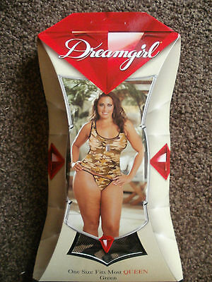 Dreamgirl camouflage net camisole vest & thong set BNIB queen plus size