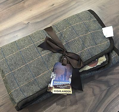 Wainwright's Dogs Highlander Plush Blanket - 100x80cm - BNWT
