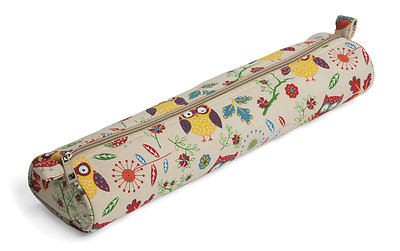 Knitting Needle / Pin Bag Storage Case by Hobby Gift Owl Print 10x40x5.5cm