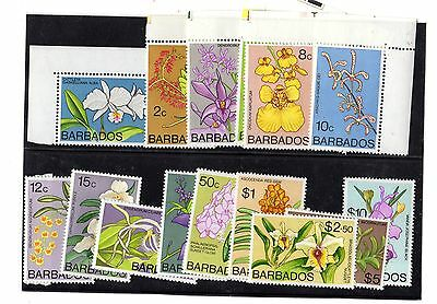 Barbados 1974 Flowers 16 Values to $10 MNH X5444