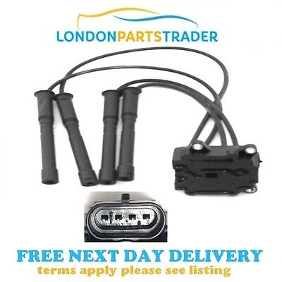 Ignition Coil Pack Spark Plug Leads Fits Renault Clio Kangoo Twingo 1.2 16V New