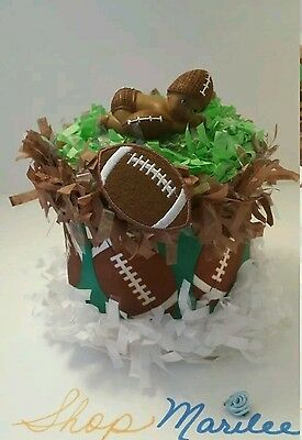 Football Baby Shower Diaper Cake Table Decoration Centerpiece Cake Topper