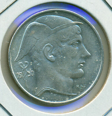 1950 Belgium 20 Francs, Choice Brilliant Uncirculated, Great Price!