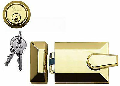 Roller Bolt Night Latch Polished Brass Yale Type Front Door Lock