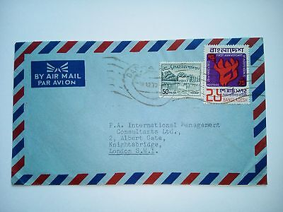 Dacca 1972 Stamped Cover  Air Mail To London Gb  Pakistan + Bangladesh Stamps