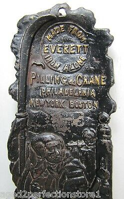 Antique Everett Iron Co Advertising Tray Pilling & Crane Phila New York Boston