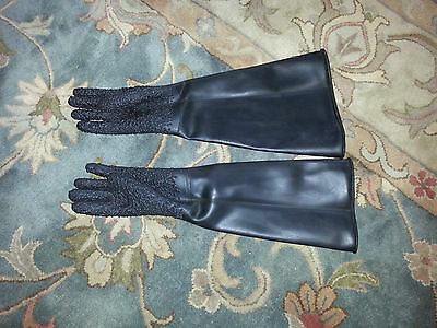 Rubber gloves for blasting machine, pair, 2300055