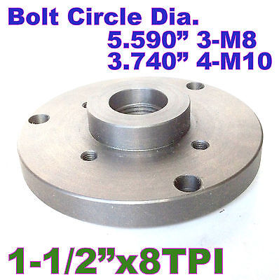 """1 pc 6"""" Back Plate for Lathe Chuck Threaded 1-1/2""""-8TPI sct-888"""