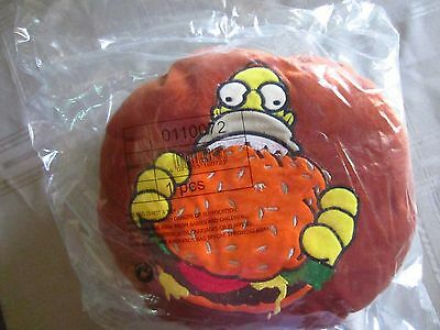 Simpsons Plush Pillow From Germany W/tags  Homer Hamburger