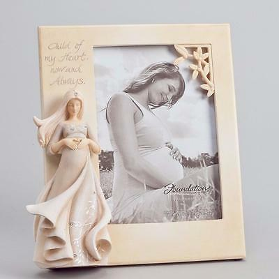 Enesco Foundations Beautiful 3D Pregnancy Picture Frame NIB 4044094 Baby Gift