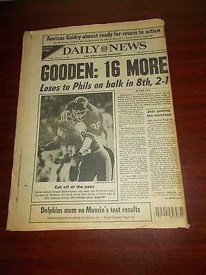 1984 NY Daily News-Mets Dwight Gooden KOs 16 More-Philippe Petit Centerfold
