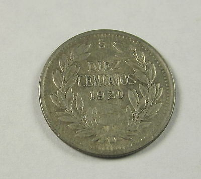 Chile 10 Centavos, 1920, Circulated, Uncertified