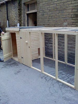 NEW DOG KENNEL AND RUN 16ft x 4ft
