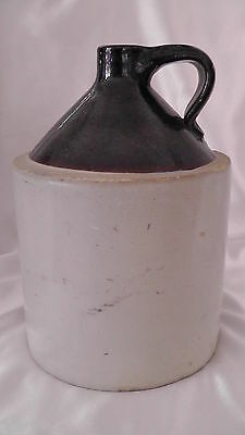 Vintage Brown 1 gal. Ceramic Whiskey Jug 10x7