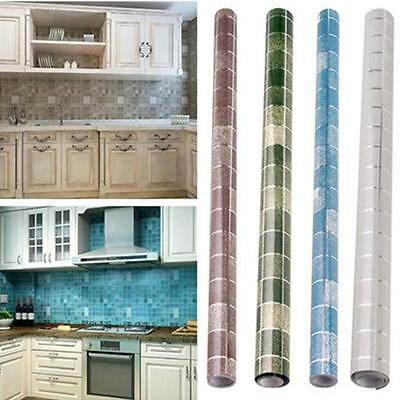 Tiles Wall Stickers Mosaic Self-adhesive Anti Oil Waterproof Bathroom Kitchen C