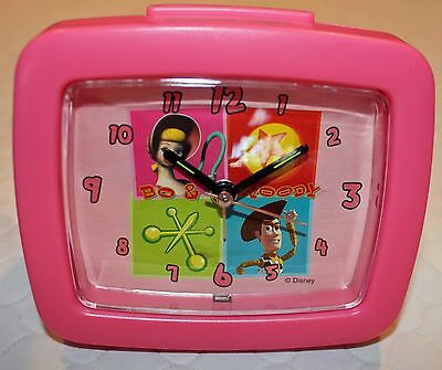 Toy Story RARE Bo Peep & Woody Musical Alarm Clock with 2nd Hand
