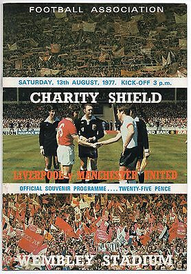 1977 Liverpool v Manchester United Charity Shield at Wembley Man Utd