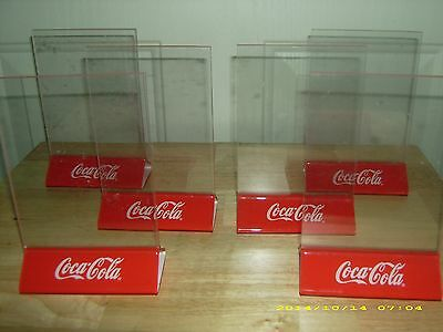 Lot of 6 Brand New Coca-Cola Sign Table Tent Menu Board Holders!