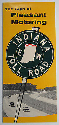 Vintage Travel Brochure - Indiana Toll Road, Highway Map, Toll Rates, 1960