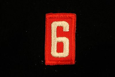 BOY CUB SCOUT TROOP PACK NUMBER # 6 or # 9 PATCH - RED & WHITE EMBROIDERED - BSA