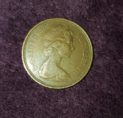 """ANTIQUE british 2p (2 pence) coin """"new pence"""" rare collectable 1971"""
