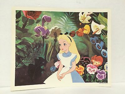 RARE Vintage Walt Disney Productions Alice in Wonderland Lithograph Print