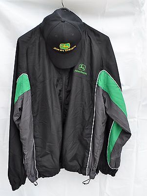Turning Point JOHN DEERE Windbreaker Jacket XL & JOHN BEER HAT