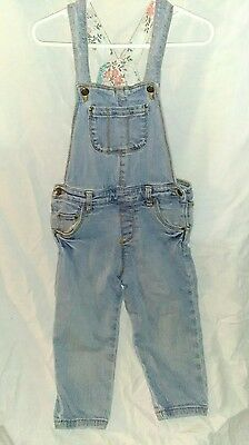Toddler Kids Blue Denim Overalls Pants Carter's Size 3t