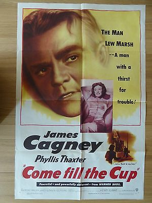 COME FILL THE CUP (1951) - original US 1 Sheet film/movie poster, James Cagney
