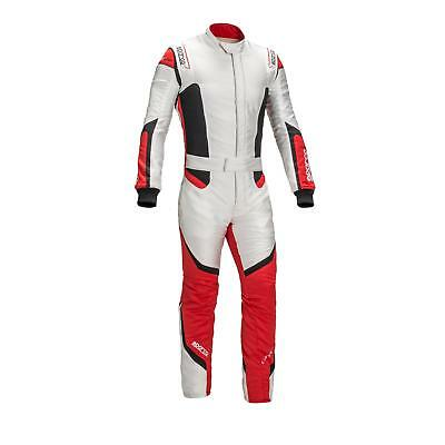 Sparco 11268 Lunargrid RS-6 Racing Suit- White / Red- XXL