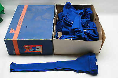 "New Old Stock Vintage Double T 15"" Stirrup Baseball Socks 11 Pair Royal Blue"