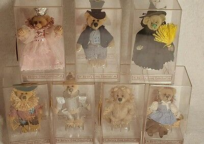 Gund Barton's Creek Collection 7 Miniature Wizard of Oz Bears Complete Set Case
