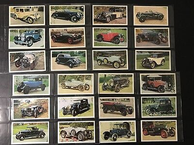 Player Cigarette Cards DONCELLA GOLDEN AGE OF MOTORING Full Set of 24 in Sleeves