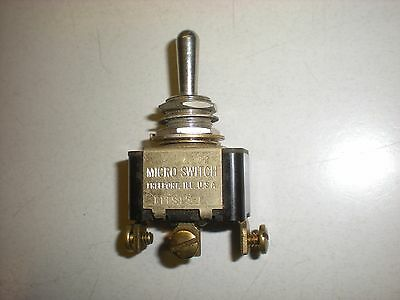 Honeywell MicroSwitch 511TS15-1 Center Off Toggle Switch - NOS - Tests OK