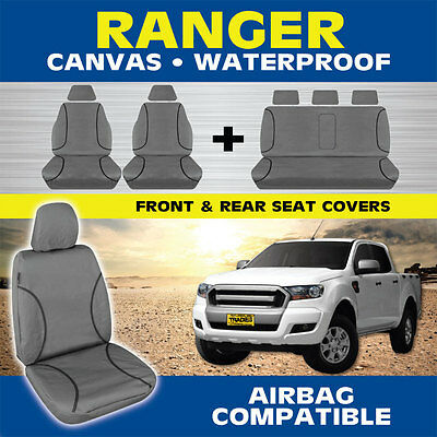 Ford Ranger PX MKII Dual Cab 08/2015-On TRADIES Heavy Duty Canvas Car Seat Cover