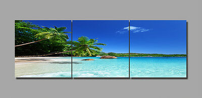 "3PCS 16"" Abstract Wall Decor Art Oil Painting on Canvas NO frame Sunny Beach 36"