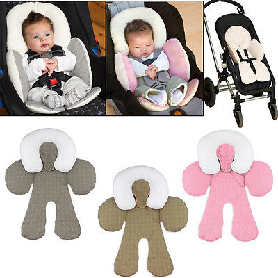 Baby Toddler Travel Head Body Support Pillow For Stroller Car Seat Cotton Pillow
