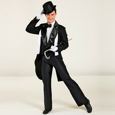 Mens Black & White Tailcoat - Tap Dance Costume - Broadway