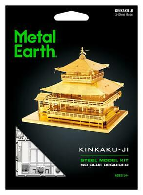 Fascinations Metal Earth 3D Laser Cut Steel Model Kit - Japan Gold KINKAKU-JI
