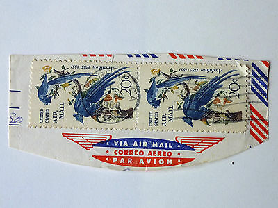270] - UNITED STATES AIR MAIL STAMPS - PAIR OF 20c ON PIECE - FINE USED