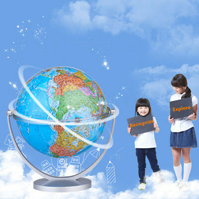 18cm World Globe Ocean Atlas Map Swivel Rotating Stand Geography Educational Toy