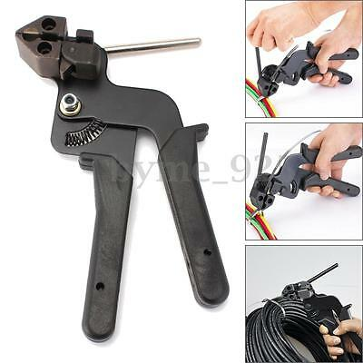 Heavy Duty Stainless Steel Cable Tie Gun Auto Tightener Tensioner Cutter Tool