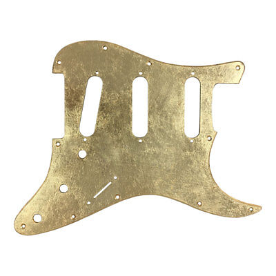 Pickguard CUSTOM ORDER Fender Stratocaster style GOLD LEAF SILVER COPPER glossy