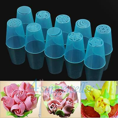 10PCS Russian Nozzles Pastry Star Cake Icing Piping Decorating Tips Baking Tools