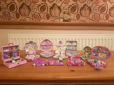 9 Vintage Polly Pocket Sets With Figures And Very Rare Cars All Bluebird Bundle