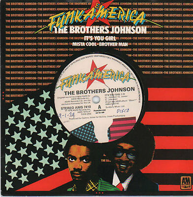 """Brothers Johnson It's You Girl - A Label 7"""" vinyl single record UK promo"""