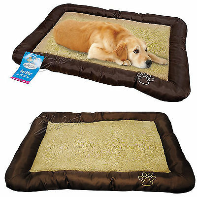 Luxury Extra Soft Warm Comfy Fabric Dog Cat Pet Bed Puppy Washable Pet Mat