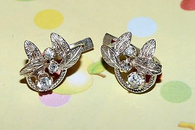 Delicate Tiny Amazing Vintage EARRINGS Soviet USSR Silver 925!